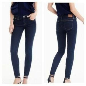 J. CREW Point Lake Wash Toothpick Skinny Jeans